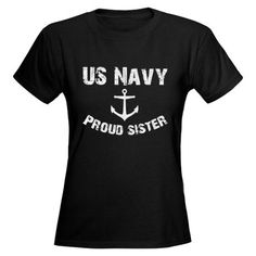 Perfect for AF vs Navy game! Navy Sister, Navy Mom, Us Navy, Navy Clothing, Military Mom, Fade Designs, Tee Shirts, Tees, T Shirts