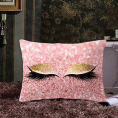 Pink Golden Lash Out Soft Velvet Cushion Cover Marble Pillow Cover Bedroom Sofa Decoration Pillow Cases Bedroom Sofa, Velvet Cushions, Nepal, Pillow Covers, Lashes, Home Improvement, Marble, Throw Pillows, Decoration