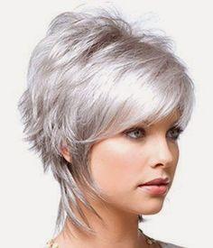 Resultado de imagem para cabelos curtos platinados cinza