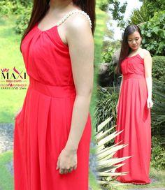 Đầm maxi hai dây ngọc trai - maxi551 : Váy Maxi Đẹp