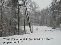 What type of food do you need in a storm preparation kit? Get yourself better prepared. Winter Storm, Winter Time, What Type, Do You Need, Disaster Preparedness, Types Of Food, Prepping, Survival, Things To Come