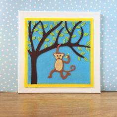 Monkey Nursery Decor. Childrens Wall Art. Nursery by BunbyAndBean