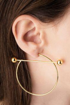 SOLAR EARRING - TWO TONE