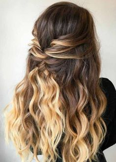 30 Awesome Braided Half Up Half Down Hairstyles for Your Prom - homecoming hairstyles,homecoming hairstyles down,homecoming hairstyles for short hair Fancy Hairstyles, Braided Hairstyles, Prom Hairstyles For Long Hair Half Up, Hairstyles For Dances, Simple Homecoming Hairstyles, Homecoming Hair Down, Grad Hairstyles, Curly Prom Hair, Prom Hair Medium