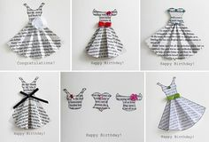 Handmade dresses for card