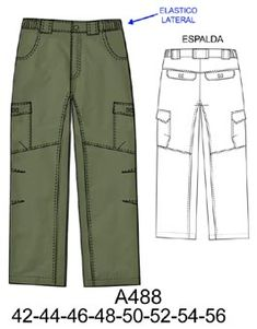 Pantalones Family Outfits, Boy Outfits, Flat Drawings, Pantalon Cargo, Men Trousers, Dress Sewing Patterns, Pants Pattern, Fashion Sketches, Pants For Women
