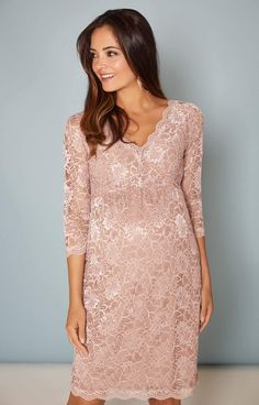 Chloe Lace Maternity Dress Orchid Blush - Maternity Wedding Dresses, Evening Wear and Party Clothes by Tiffany Rose US Maternity Evening Wear, Maternity Dresses, Maternity Wedding, Denim And Lace, Summer Fashion Outfits, Diy Fashion, Fur Vintage, Tiffany Rose, Lace Weddings