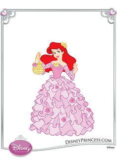Ariel with hibiscus flowers Disney Princess Dress Up, Disney Princess Fashion, My Princess, Disney Style, Disney Princesses, Ariel Disney, Princess Gowns, Disney Fashion, Cool Cartoons