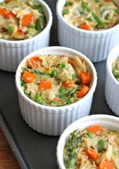 Individual Chicken Pot Pies - Damn Delicious