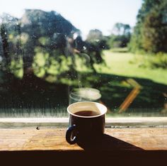 Morning coffee,  and a good view