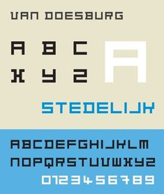 Theo van Doesburg, Alfabeto elástico, 1919