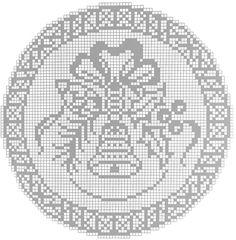 Crochet Doily Diagram, Filet Crochet Charts, Crochet Motif, Crochet Doilies, Crochet Patterns, Crochet Christmas Ornaments, Christmas Cross, Christmas Deco, Crochet Winter