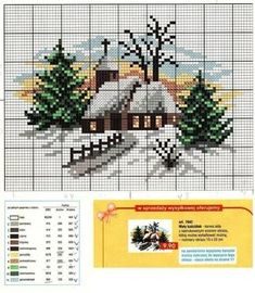 ru / Фото - зима - irisha-ira---PG 2 OF 2 Cross Stitch House, Xmas Cross Stitch, Cross Stitch Christmas Ornaments, Cross Stitch Cards, Christmas Cross, Cross Stitching, Cross Stitch Embroidery, Embroidery Patterns, Cross Stitch Designs