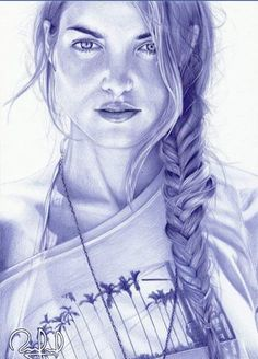 Ballpoint pen drawings by Rafael Augusto