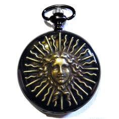 Pocket Watch Steampunk Black with Golden Brass by tempusfugit