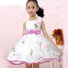 meisje mode bloem organza partij optocht kinderkleding prinses jurken - EUR €20.57
