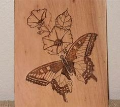 Image result for Butterfly Wood-Burning Patterns