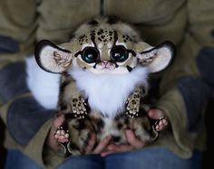 She makes the cutest ultra-realistic fantasy animal dolls. - Inari Foxes: Oncilla by Santani.deviantart.com on @deviantART