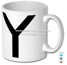 New product 'Alphabet Letter Y Printed Mug' added to East Yorkshire Gifts! - £6.99