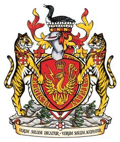 Canada's Chinese-Canadian Governor General, Adrienne Clarkson's Coat of Arms marks her family's roots among the Toysan and Hakka people in Southern China, as well as, Hong Kong. Ancient Persia, Canadian History, Family Crest, Crests, Coat Of Arms, Middle Ages, Medieval, Beast, The Incredibles