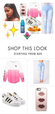 """""""IN health class"""" by prvncessiycxst on Polyvore featuring Victoria's Secret, adidas Originals and Casetify"""
