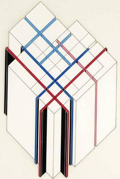 Peter Eisenman, Axonometric Diagram of House VI 1972, Ink, colored ink, and…