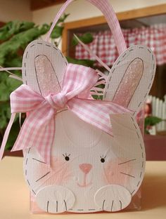 Bunny box. If you search for bunny box you will find all sorts of cute boxes to make