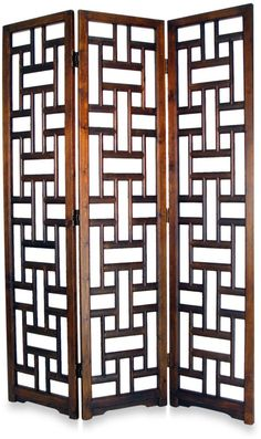 Dark wood room divider is elegant in an earthy decor scheme, Sri Lanka Room Divider