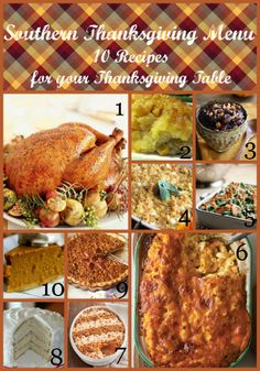 Southern Thanksgiving Menu: 10 Recipes for your Thanksgiving Table