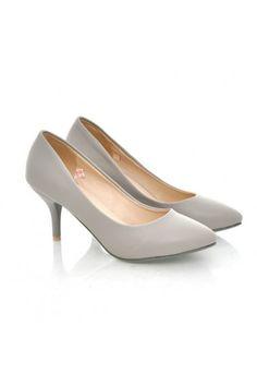 Escarpins Gris Audrey - Chaussures femme petites pointures