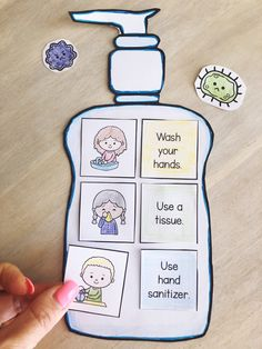 Healthy Habits Cut and Paste Activity to teach and remind children of the healthy habits we can use to stay well and avoid sickness.This low-paper activ Classroom Rules, Classroom Displays, Preschool Learning Activities, Preschool Activities, Healthy Habits For Kids, Hand Washing Poster, School Safety, School Signs, Cut And Paste