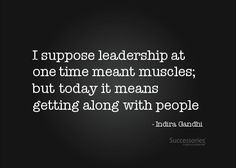Leadership quote by Gandhi.