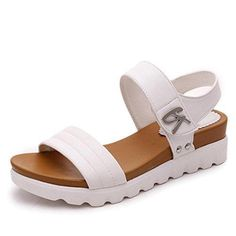 Cheap sandal women summer, Buy Quality platform sandals directly from China women platform sandals Suppliers: VTOTA Fashion Sandals Women Summer Shoes Slip-On Shoes Woman Platform Sandals Female Shoes Comfortable Zapatos Mujer Flat Gladiator Sandals, Leather Sandals, White Sandals, Pu Leather, Black Flats, Strappy Flats, Sandals Platform, Studded Sandals, Leather Fashion