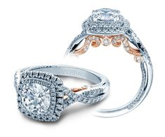 New INSIGNIA-7084CU-TT engagement ring from The Insignia Collection in white and rose gold.