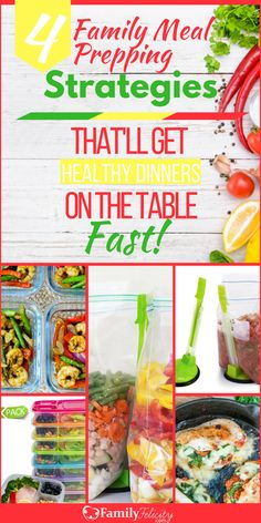 These meal prepping strategies work directly with your weekly meal plan to help you get healthy delicious and home-cooked meals on your dinner table without all the hassle!