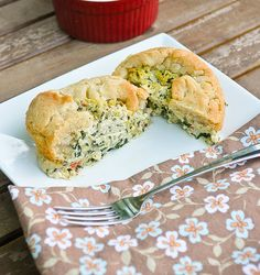 """The perfect breakfast. Similar to Panera's mock soufflé! Vegan Spinach and Artichoke """"Soufflé"""" 