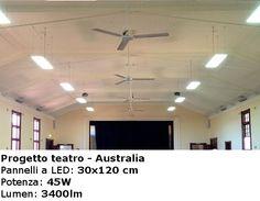 Progetto teatro - Australia   Pannelli a Led