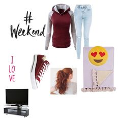 """""""Weekend"""" by miastar10 ❤ liked on Polyvore featuring New Look, Converse, Alicia Adams, Throwboy and weekend"""