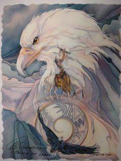 Bergsma Gallery Press :: Paintings :: Native American :: Air Animals :: Peace at Last - Prints American Indian Art, Native American Indians, American Air, Tattoo Indio, Spirited Art, Animal Totems, Native Art, Bird Art, Nativity