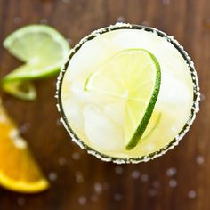 SKINNIER MARGARITA - 1 cup lime juice - 1 cup water - 20 drops liquid stevia - 6 oz tequila - 2 oz fresh-squeezed orange juice - Ice Salt for glass rim (optional) Fun Cocktails, Summer Drinks, Fun Drinks, Cocktail Recipes, Beverages, Drinks Alcohol, Alcohol Recipes, Party Drinks, Healthy Snack Options