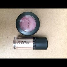 MAC eyeshadow and Pigment MAC pigment color English Gilt- never used. MAC eyeshadow color Swish Frost... Used 5 times max. Great colors and in good condition. Message me with any questions. Free gift included with all purchases! MAC Cosmetics Makeup Eyeshadow