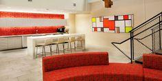Kontour Lounge and Prat Table from Davis Furniture - Paric Corporate Headquarters St. Davis Furniture, Contract Furniture, Plan Design, Industrial Furniture, Interior Design Inspiration, Lounge, St Louis, Contemporary, Architecture