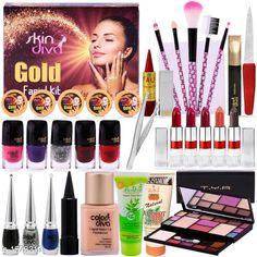 Makeup Kits Premium Choice Makeup Combo Kit  *Product Name* A Complete Set Of Make-up Combo With Color Diva & Skin Diva Facial Kit 80g  *Product Type* Makeup Kit Combo  *Product Description* This Combo Sets by copy is the All in one set that has all you need for a professional makeup each individual makeup is manufactured with high quality materials and is offered at a very affordable price why pay more at edpartment store when you can have them all at one low price. Enjoy it1.Facial Kit-Cream  *Package Contains* It Has 1 Pack Of Makeup Kit Combo  *Sizes Available* Free Size *   Catalog Rating: ★3.9 (130)  Catalog Name: makeup kit Unique Choice Makeup Combo Kit Vol 4 CatalogID_204486 C51-SC1245 Code: 196-1573319-5755