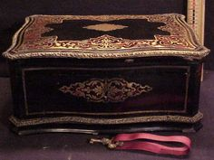1860 French Sewing Box, Faux Tortishell w. Etui Bone Access. $1000 and well worth it :o)