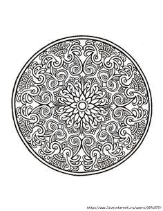 Dover Coloring Book - Mystical Mandala Coloring Book_0026 (540x700, 268Kb)
