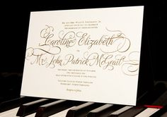 Printable Wedding Invitation -- Calligraphy Simple Modern Script -- pompdesigns on Etsy, $49.99