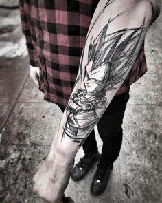DragonBall tattoo by Inez Janiak