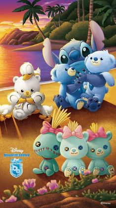 Lilo and Stitch branded version of Disney Store Japan's Unibearsity but called Ohanabearsity.