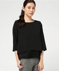 COLLAGE GALLARDAGALANTE(コラージュ ガリャルダガランテ)の裾フリンジブラウス(シャツ/ブラウス)|ブラック