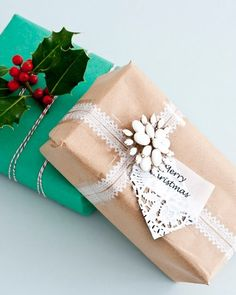 love the teal wrapping, would love a whole bunch of bold colored wrapping under the tree